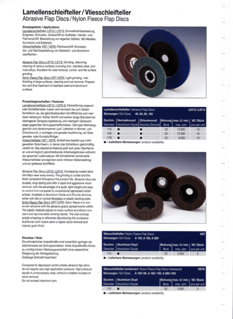 Flap Disc and Non Woven Wheel Catalogue