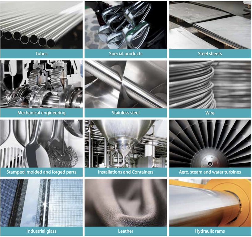 aerospace, glass working and oil and gas industries for VSM products