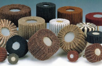 Nylon fleece wheel and non woven mop wheel