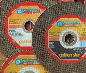 Sonnenfeld Golden cutting disc and grinding disc