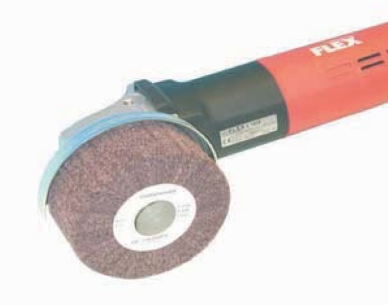 non woven wheel on angle grinder