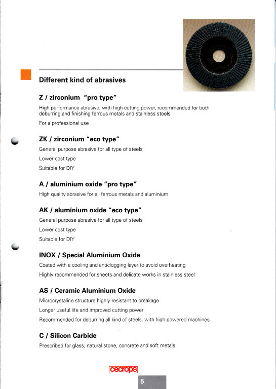 abrasive flap disc by Cecrops