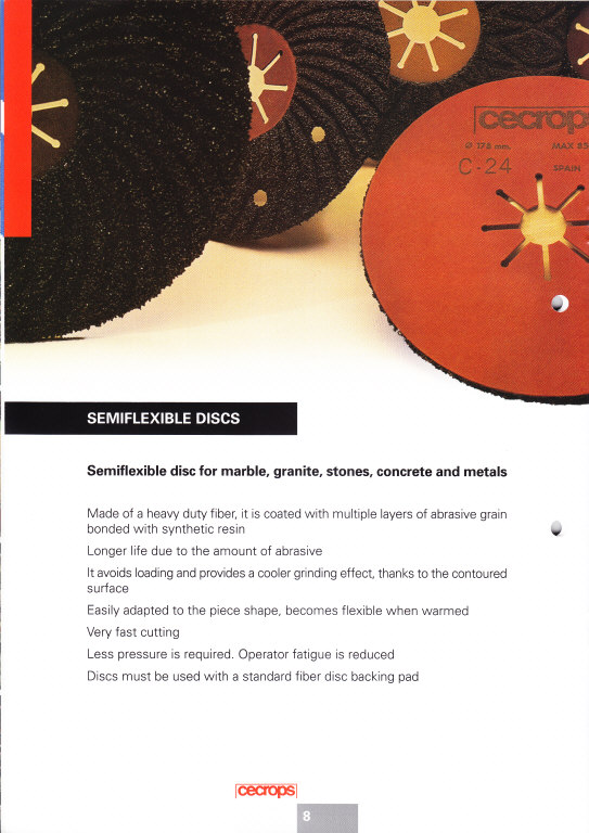 semi flexible disc for marble, granite, stones, concrete and metals