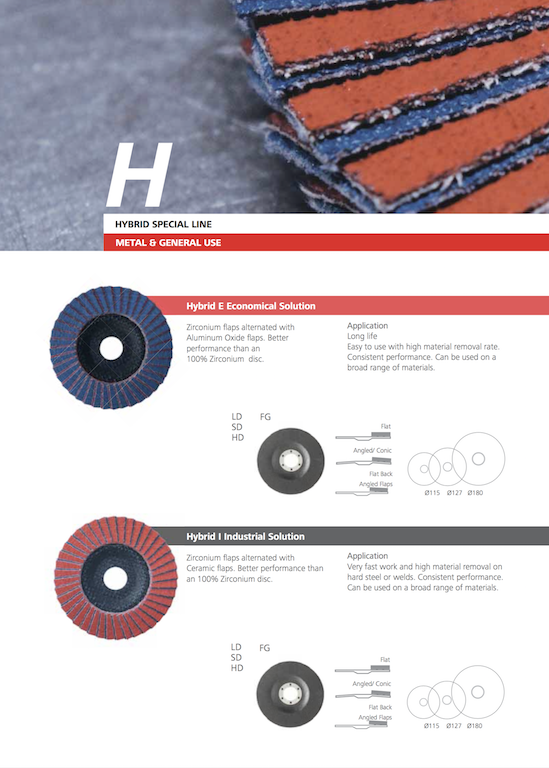 Hybrid abrasive flap disc by Verox