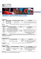 abrasive belt catalogue, vsm ceramics, aluminium oxide, zirconia
