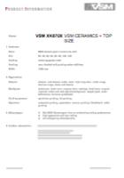 XK870X TOP SIZE VSM Ceramics Abrasive Material