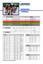 grinding wheel catalogue