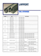 Oil Stone Catalogue, dimensions and specifications