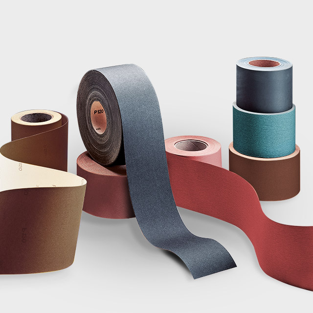 vsm abrasive roll in different sizes and material