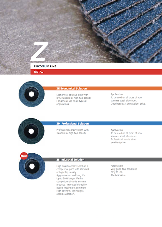 Zirconium abrasive flap disc