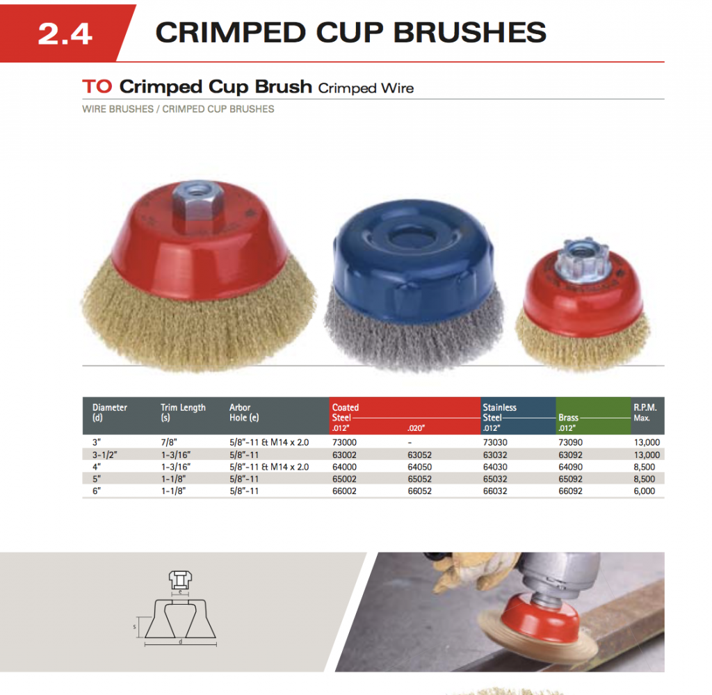 Crimped Wire Cup Brush Image