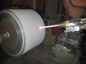 grinding of HVOF, or super hard coating, ceramic coating